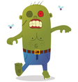 Walking green zombie vector image vector image