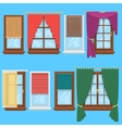 Window curtains and blinds set vector image vector image