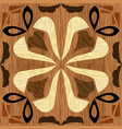 wood art inlay tile geometric ornament from dark vector image vector image