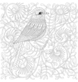 zentangle Bird Cartoon exotic and tropical vector image vector image