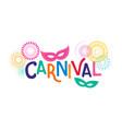 carnival poster with colorful party elements vector image