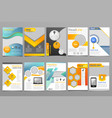 cover design annual report template of vector image