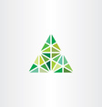 abstract geometric green triangle icon vector image vector image