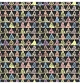 Abstract pattern of colored triangles vector image vector image