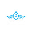 air delivery thin line stroke icon air vector image vector image