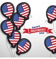 American patriotic flag balloons cut out from vector image vector image