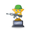 army cartoon star trophy in character drawer