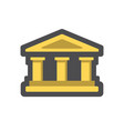 bank building house with columns cartoon vector image vector image