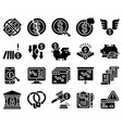 bankruptcy related icon set 2 solid style vector image