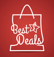 Best deal design vector image vector image