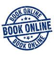 book online blue round grunge stamp vector image vector image