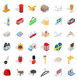 border icons set isometric style vector image vector image