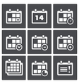 Calendar with notes icon set vector image