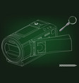 camera on green vector image vector image
