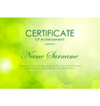 certificate achievement template vector image vector image