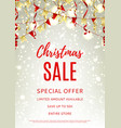 Christmas sale flyer template vector image