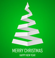 Christmas tree made of folded paper origami 16 vector image vector image