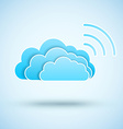 Cloud with Wifi symbol vector image