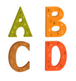 colored letters of the latin alphabet with a vector image vector image