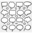 comic bubbles and elements 4 vector image vector image