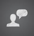 conversation sketch logo doodle icon vector image vector image