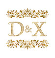 d and x vintage initials logo symbol the letters vector image vector image