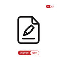 edit file icon vector image vector image