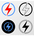 electricity eps icon with contour version vector image