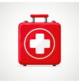 first aid kit isolated on white red box vector image