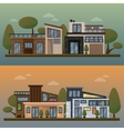 flat of two family house and vector image vector image