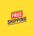 free shipping delivery banner design truck vector image vector image
