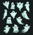 halloween holiday party cartoon ghosts vector image