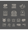 Handicraft logo set vector image vector image