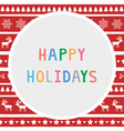 Happy holidays9 vector image vector image
