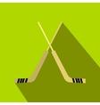 Hockey icon flat style vector image