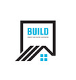 house home building - logo concept vector image