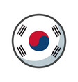 isolated south korea flag icon block design vector image
