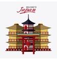 Japan culture and landmark design vector image vector image