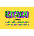kitch style font pop art alphabet letters and vector image vector image