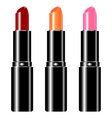 lipstick set vector image vector image