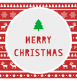 Merry Christmas greeting card8 vector image