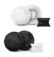 mock up white and black waterproshower cap vector image vector image