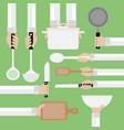 modern design concept flatcooking tools vector image