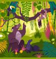 mowgli landscape background vector image vector image