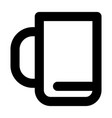 office cup icon outline style vector image