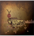 old car with grunge background vector image vector image