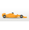 orange racing bolid sports car quick transport vector image vector image