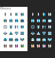 people icons light and dark theme vector image