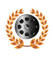 reel tape record isolated icon vector image vector image
