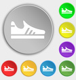 Running shoe icon sign Symbol on eight flat vector image vector image